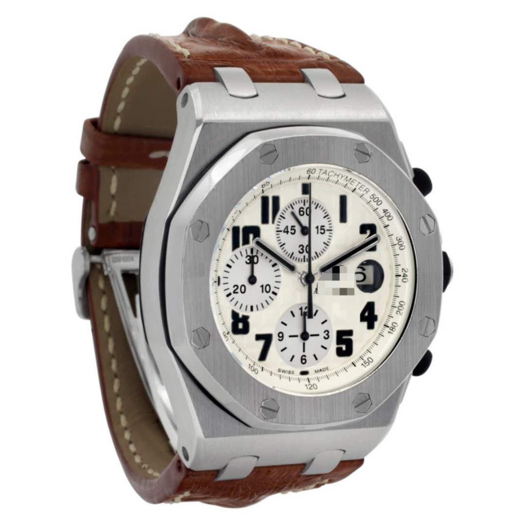 Replacement brown America Alligator watchband compitable for the Audemars Piguet Royal Oak Mens Watch 42mm