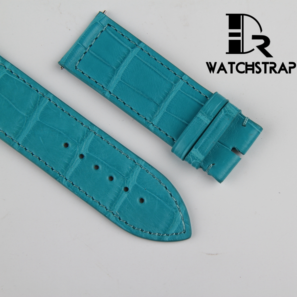 Blue-Leather-watch-band-strap-fit-for-Franck-Muller-Long-Island-Color-dreams-mens-watch