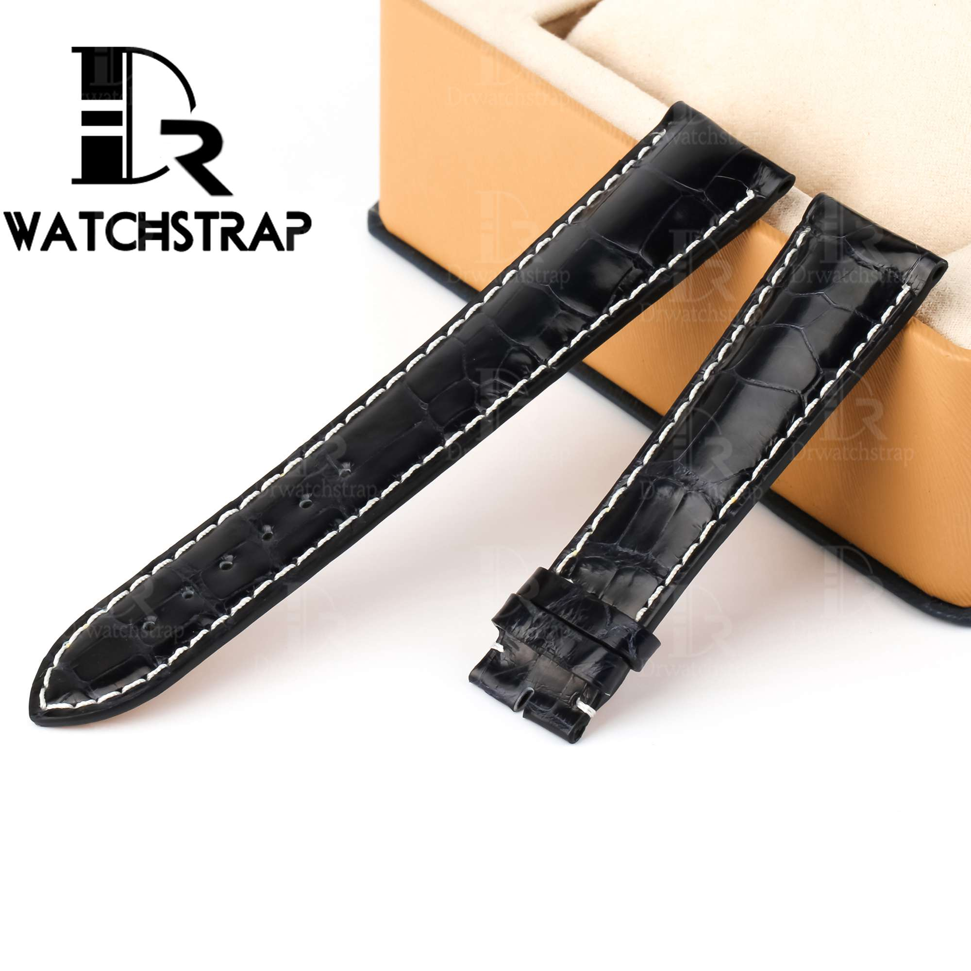 Buy Replacement America alligator leather watch band strap for Breitling Bentley Navitimer Superocean wristwatch strap