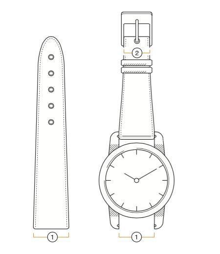 How to measure watch band size
