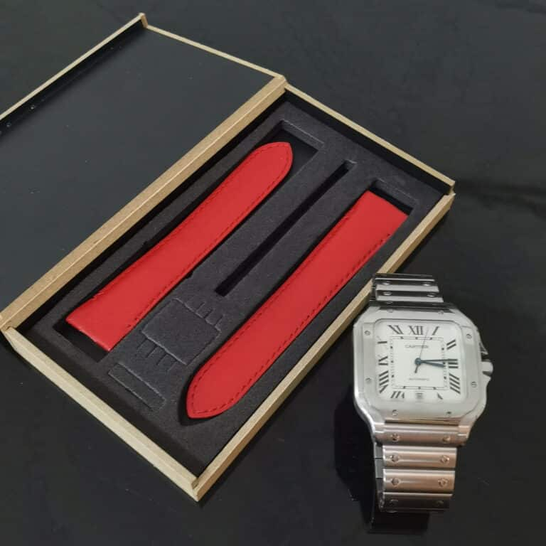 Cartier Santos Large 40mm red leather quick released hard to find